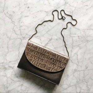 Vintage Bronze Convertible Clutch Chain Purse